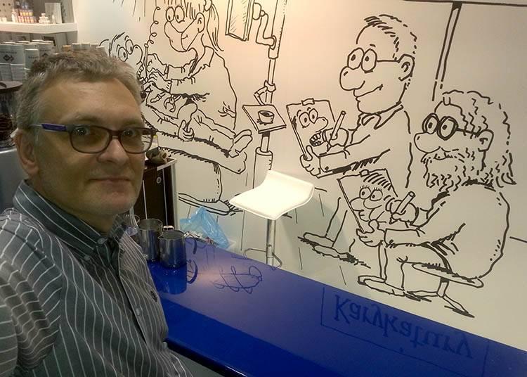 karykaturzysta na targi atrakcje Warszawa Poznań