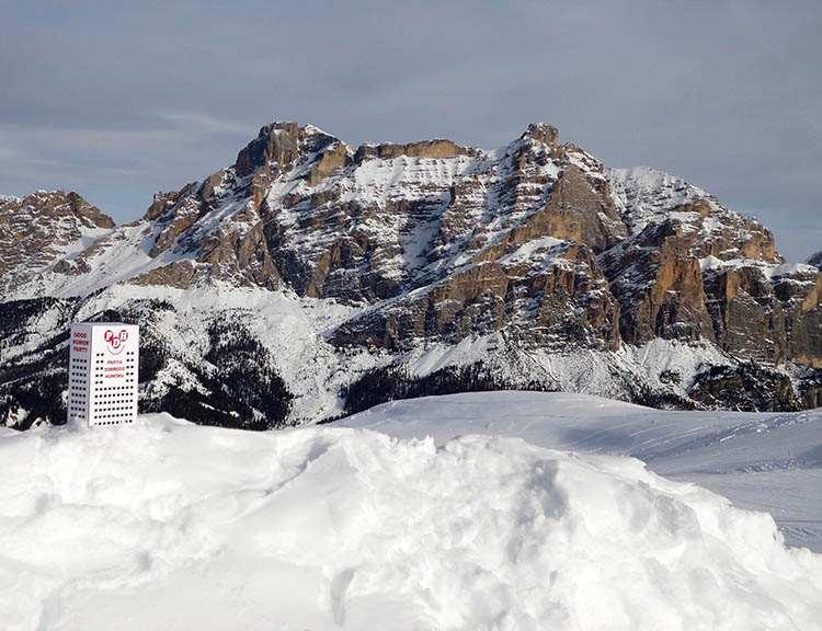 zima Dolomity ciekawostki na Szczycie Pralongiá 2140 m